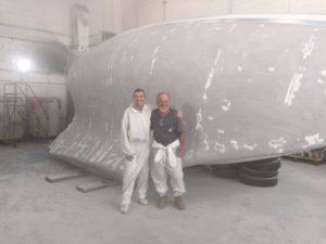 Istvan and Glenn Puffin starboard paint work