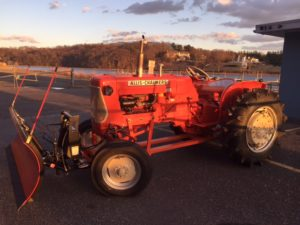 Artie's classic collectible orange tractor