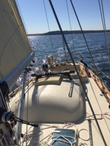 First sail on Puffin