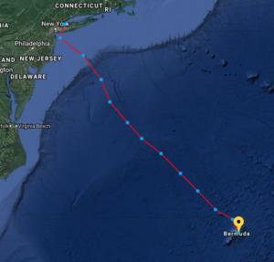 Puffin Map to Bermuda